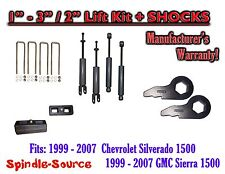 "1999 - 2006 CHEVY GMC 1500 Silverado Sierra 1-3"" Keys / 2"" Leveling Kit + SHOCKS"