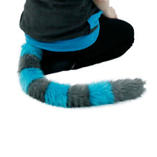 PAWSTAR Cheshire CAT TAIL Cosplay FURRY kitty Anime Costume Gray Teal [ALT] 3561