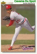 693 JUAN AGOSTO ST. LOUIS CARDINALS BASEBALL CARD UPPER DECK 1992
