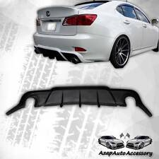 DMR Style Rear Bumper Lip Diffuser Black PU For 2006-2012 Lexus IS250 IS350 4Dr