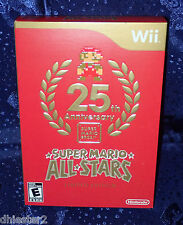 SUPER MARIO ALL-STARS 25TH ANNIVERSARY LIMITED EDITION WII & WII U BROS NEW