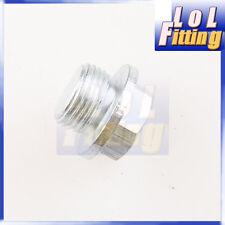 O2 Sensor Bung Plug M18 x 1.5 Zinc Plated Mild Stainless Stealth Male M18 Plug
