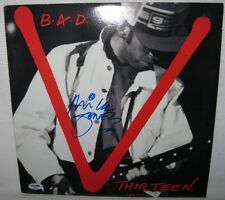 MICK JONES SIGNED BIG AUDIO DYNAMITE 'THIRTEEN' ALBUM COVER AUTOGRAPH PSA/DNA