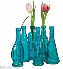Turquoise Vintage Glass Medicine Bottles Wedding Table Supplies Decoration Vases