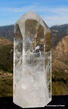 """Magnificent 6.25"""" John of GOD Quartz Altar Stone Devic DOW Crystal 2 lb CAQ-31"""