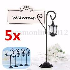 5x Vintage Streetlight Table Marker Holder Clips Party Wedding Name Place Card