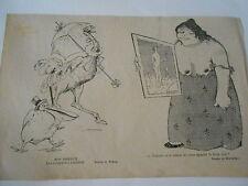 Oiseaux les contrastes s'attirent Femme obèse envieuse Humour image print 1900