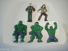 MARVEL THE INCREDIBLE HULK FIGURINES SET - FIGURES COLLECTIBLES MINIATURES