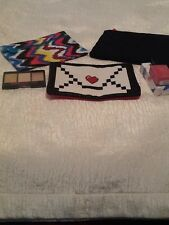 lot of 3 ipsy makeup cosmetic bags with 2 items nail polish & trio eye shadow