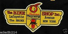 """THE BIKE SHOP THE BRONX NEW YORK"" Vinyl Decal Sticker MOTORCYCLE INDIAN ARIEL"