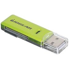 IOGEAR SD/MicroSD/MMC Card Reader/Writer GFR204SD(Green/Gray) by IOGEAR AOI
