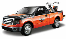 FORD F150 STX with HARLEY DAVIDSON MOTORBIKE 1:24 Diecast Car Model Bike F-150