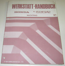 Werkstatthandbuch Honda Legend Coupe Typ KA7 / KA 7 - KA8 / KA 8 Ausgabe 1991!