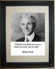 "Henry Ford "" think you can..."" Quote Framed Photo Picture #h1"