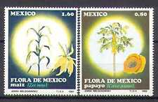Mexico 1982 Flowers/Fruit/Plants/Maize/Pawpaw/Crops/Farming/Food 2v set (n25294)