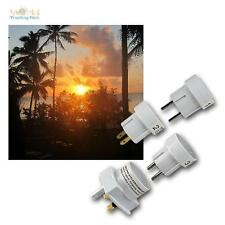 Travel plug Set, World adapter, for the holidays in other Countries