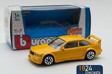 BMW M3 GT Cup Yellow, Bburago 18-30157, scale 1:43, toy car model boy gift