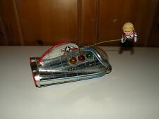 Vintage Tin Toy USAF Gemini X-5 Space Ship with Circling Astronaut - Modern Toys