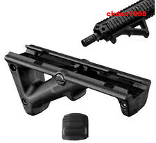 """Black 4.75"""" Front Hand Guard Front Grip Picatinny Quad Rail Angled Foregrip"""