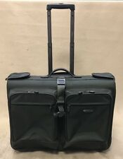 "Dakota by Tumi Rare Green Ballistic Nylon 24"" Wheeled Rolling Garment Bag"