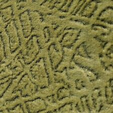 4 Yards Quality Textured Green Velvet Upholstery Fabric Curtains Green Heavy EXC