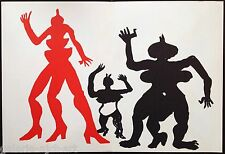 Alexander CALDER Grande Lithographie Originale V de 1975 garantie 41ans
