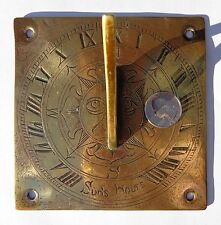 Small Rare Early 1800s Georgian Brass Bronze Roman Numerals Sun Clock Sundial !