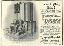 1926 Idris John Motors Park Road Hockley Birmingham House Lighting Plant's Ad