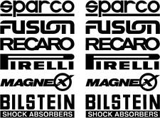12 Matt Black Car Door Stack  Sponsor Logo Stickers,Graphics,Decals set 3