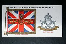 South Staffordshire Regiment  Battalion Colour  Original 1930 Vintage Card  VGC