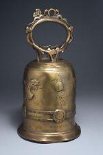Importante cloche en bronze Chine inscriptions et date
