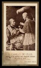 """santino-holy card""""S.CAMILLO DE LELLIS"""