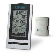 Estación Climática y sensores inalámbrica OPES temperatura humedad hora fecha de presión