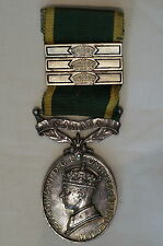 WW2 Royal Canadian Artillery RCA Efficiency Medal with 3 Bars Sgt Kemp