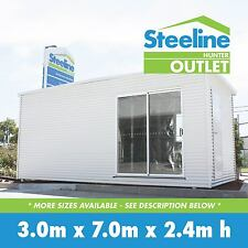 Brand New Colorbond Kit Shed / Granny Flat - 3.0m x 7.0m