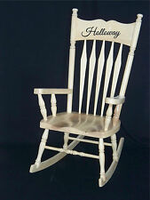 Personalized Name Sticker Rocking Chair Vinyl Decal Sticker