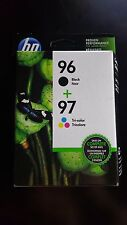 Brand New HP 96 Black & 97 Tri-color Original Ink Cartridges, (C9353FN)