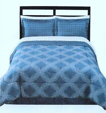 "(6) Pc Sears Ellison Studio Bed-in-a-Bag ""Orion"" ~ Blue & White ~ Twin **NEW**"