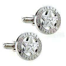 TEXAS RANGERS BADGE CUFFLINKS Western Lone Star NEW w GIFT BAG Father's Day GIft