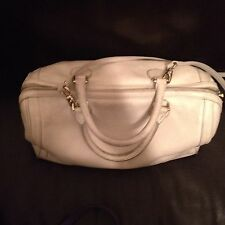 Banana Republic Oyster Off White Ivory Soft Pebbled Leather Hobo Bag handbag