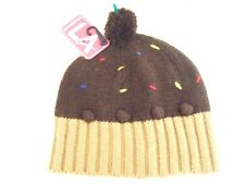 LA Gear Boys Girls women's Chocolate cup cake Xmas Pudding hat 7 yrs -Adult Ski