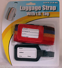 Rainbow Adjustable Security Packing Belt Strap For Luggage Baggage Travel ID tag