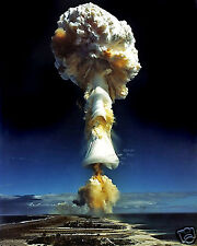 Atomic Nuclear Bomb Island Test Mushroom Cloud World War 2 WWII 8 x 10 Photo #n1