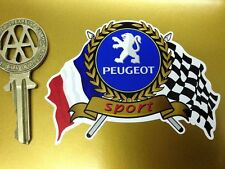 PEUGEOT sport drapeaux & scroll classic car sticker 205 306 207 307 gti rallye
