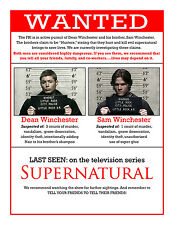 "Supernatural - US TV Show Season Art Fabric poster 17"" x 13"" Decor 078"