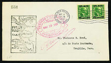 1929 FIRST FLIGHT FAM 9-2d. CANAL ZONE TO TRUJILLO PERU - CZ C1 (ESP#2024)