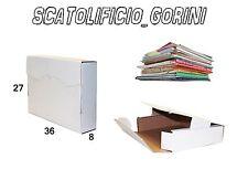 10 PZ FALDONE SCATOLA CARTONE 36x27x8 FASCICOLI   SPEDIZIONE BAULETTO PIATTA