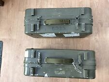 Army surplus storage carrying boxes / panniers Qty 2