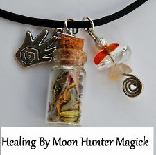 Healing Charm Spell Necklace © Healing Talisman Amulet Reiki Pagan Wicca Witch