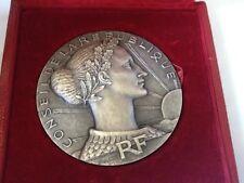 REPUBLIC FRANCAISE / CONSEIL/ DIXIEM 1946-1956 ANNIVERSAIRE Bronze Medal BOX M46